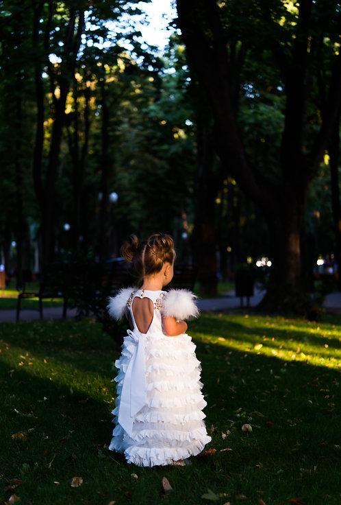 Rochie fetite pentru botez White Duchesse