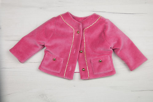 Jacheta catifea Pink Chanel