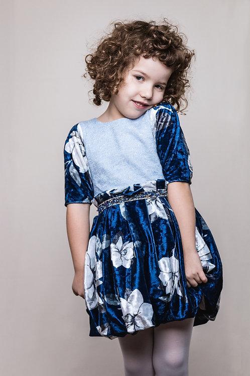 rochie din catiea albastra