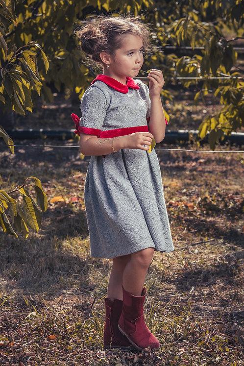 Rochie de fetite din jersey si catifea Autumn Delight