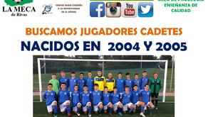 La Meca de Rivas busca jugadores cadetes para completar su plantilla de cara a la próxima temporada