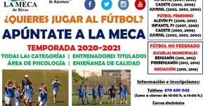 La Meca de Rivas abre plazo de inscripción para la temporada 2020-21