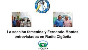 La sección femenina y Fernando Montes, entrevistados en Radio Cigüeña