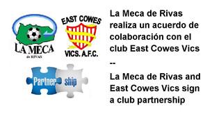 La Meca de Rivas realiza un acuerdo de colaboración con el club East Cowes Vics