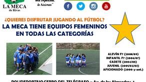 La Meca de Rivas busca jugadoras para su sección femenina de cara a la próxima temporada