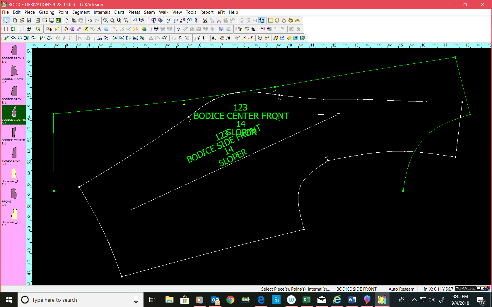 Walk Pattern Pieces in CAD