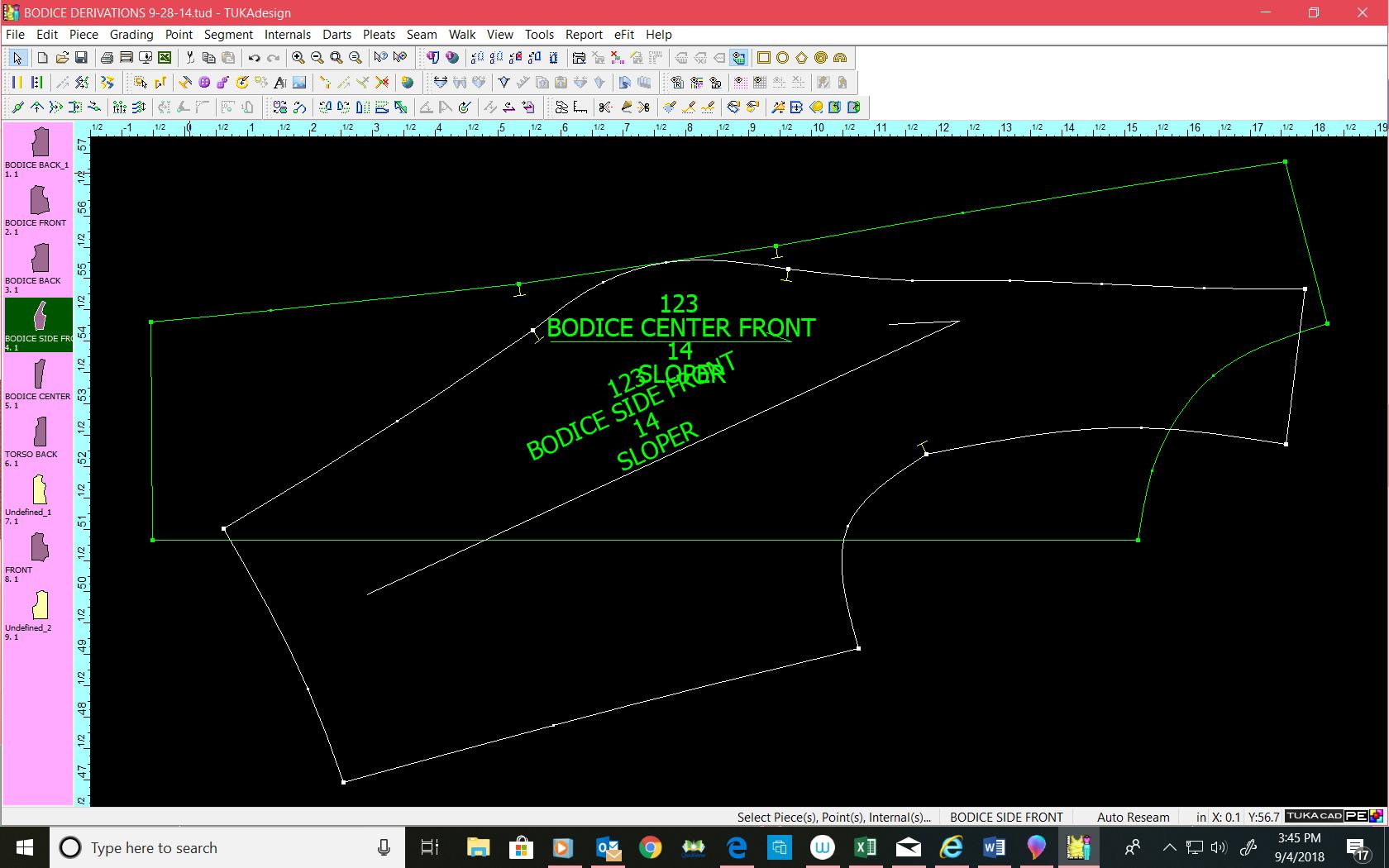 Walk Pattern Pieces in CAD