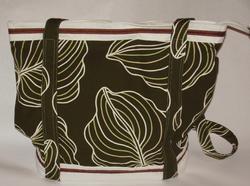 Printed Canvas w/ Leather Trim