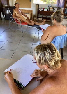 Life Drawing - Nudes drawing nudes