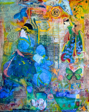 Mixed media collage. Not available