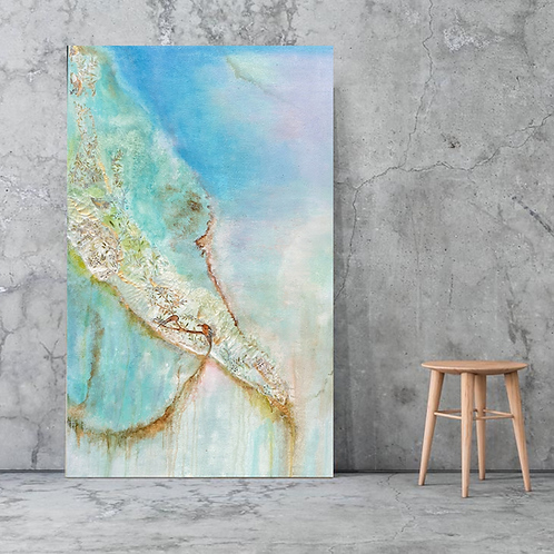 contemporary painting, living room wall art, above couch painting, modern art, mixed media artwork, interior design ideas