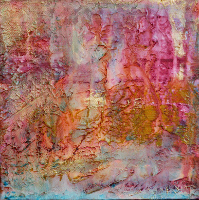 Small textured acrylic painting. Not available.