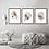 "Thumbnail: ""Pebbles""Set of 3 fine art giclee prints of watercolor abstract pebbles"