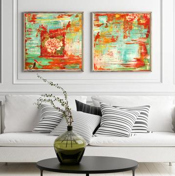 Set of 2 canvas prints 40x40