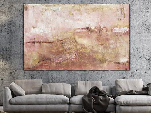 """""""Sei sempre stato tu"""" Oversized abstract contemporary painting highly textured"""