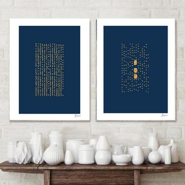 Set of 2 fine art giclee prints in original Hahnemühle fine art paper