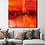 Thumbnail: Large abstract acrylic painting deep red, orange and gold, highly textured
