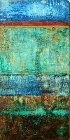 Large abstract acrylic painting. Not available