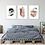 set of 3 fine art prints, abstract art, large wall art, living room decor, blue, ochre, natural colors art