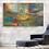 "Thumbnail: ""Navaghio"" Oversized abstract mixed media acrylic contemporary painting"