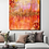 Thumbnail: Large abstract acrylic painting deep red, purple and gold, highly textured