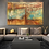 Thumbnail: Extra large abstract painting in turquoise, ochre & gold colors highly textured