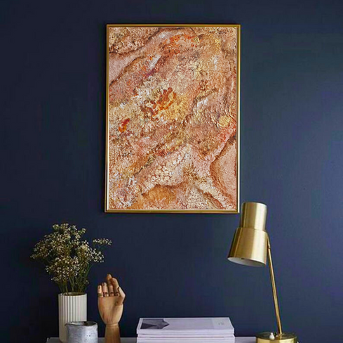 Original textured abstract painting acrylic