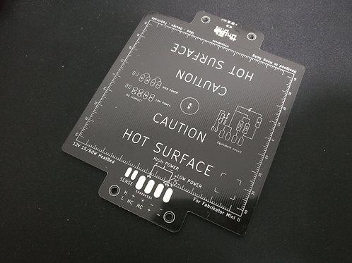 Mini Fabrikator V2 (II) aluminium Heatbed