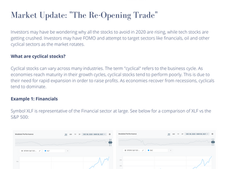 """Market Update: """"The Re-Opening Trade"""""""