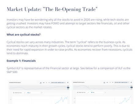 "Market Update: ""The Re-Opening Trade"""