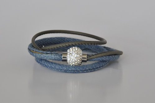 Armband aus Jeans & Leder