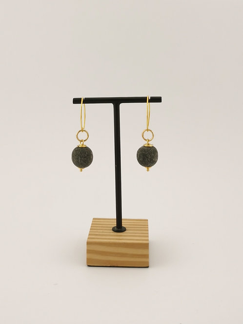Ohrringe mit Wasserbüffelhorn
