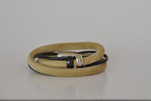 Armband aus verschiedenen Ledern