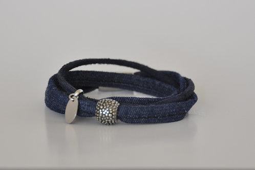 Armband aus Leder & Jeans