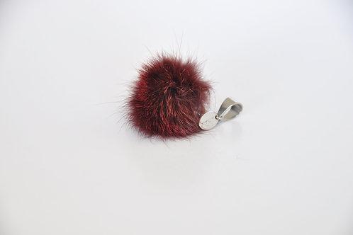 Kettenanhänger aus rotem Fuchspelz