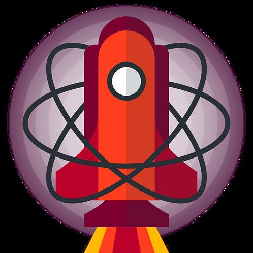 Bad Science Jokes Logo Acrylic Pin