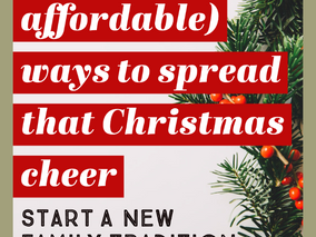 19 (fun + affordable) Activites to Bless Others this Christmas