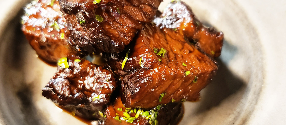Marmite and Guinness braised beef short rib