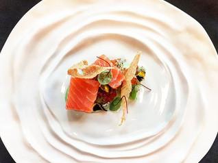 #kombu #cured #salmon #quinoa #cucumber #chefjamesoakley #alibiwinedinebesocial #cordishk #finedining #grateplates #instalike #instafood #fo
