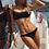 Maillot de bain noir Volanté rose Elena monokini ou bikini festigals 2019 asos undiz pas cher