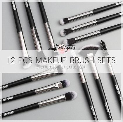12 pinceaux de maquillage professionnels Maange