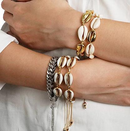FESTIGALS Bijoux qualité Bracelet coquillages gold shells summer boho ethnic bracelet jewelry