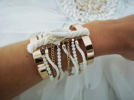 Bracelet manchette Gold Bohoshells coquillages ipanemah bijoux 2019 soldes livraison gatuite vinted