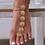 2 Bijoux de chevilles et pieds Doré Ethnique bracelet bohème cheville festival asos style
