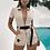 Combishort Beige Cargo avec ceinture Tomb Raider Lara crof costume combinaison festival asos