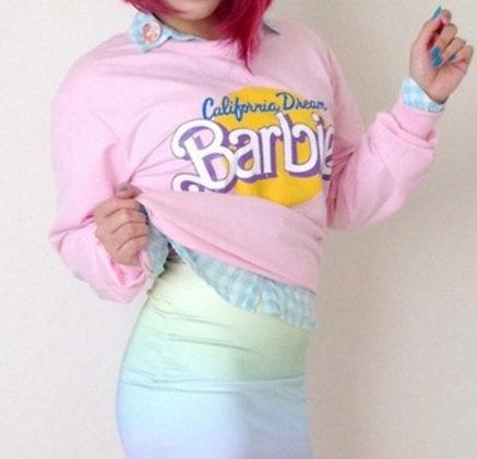 Sweatshirt Rose Barbie California Dream