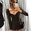 Robe Noire Lacée manches longues Ruche bohostyle h&m soldes