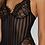 Thumbnail: Lingerie Body Noir en Dentelle Cherry