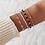 Lot de 4 Bracelets Dorés Swaroski golden bracelets set festigals 2019 bijoux femme