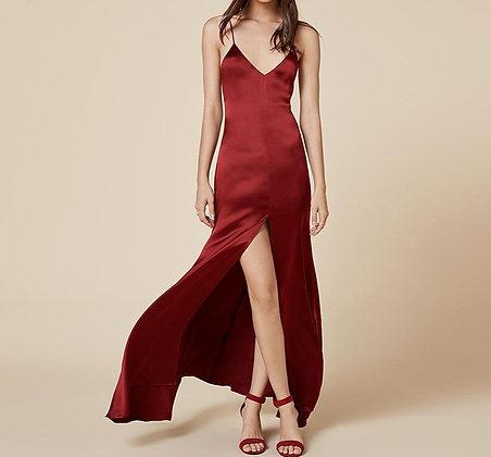 Robe Longue Satin Dark Red Svetlana